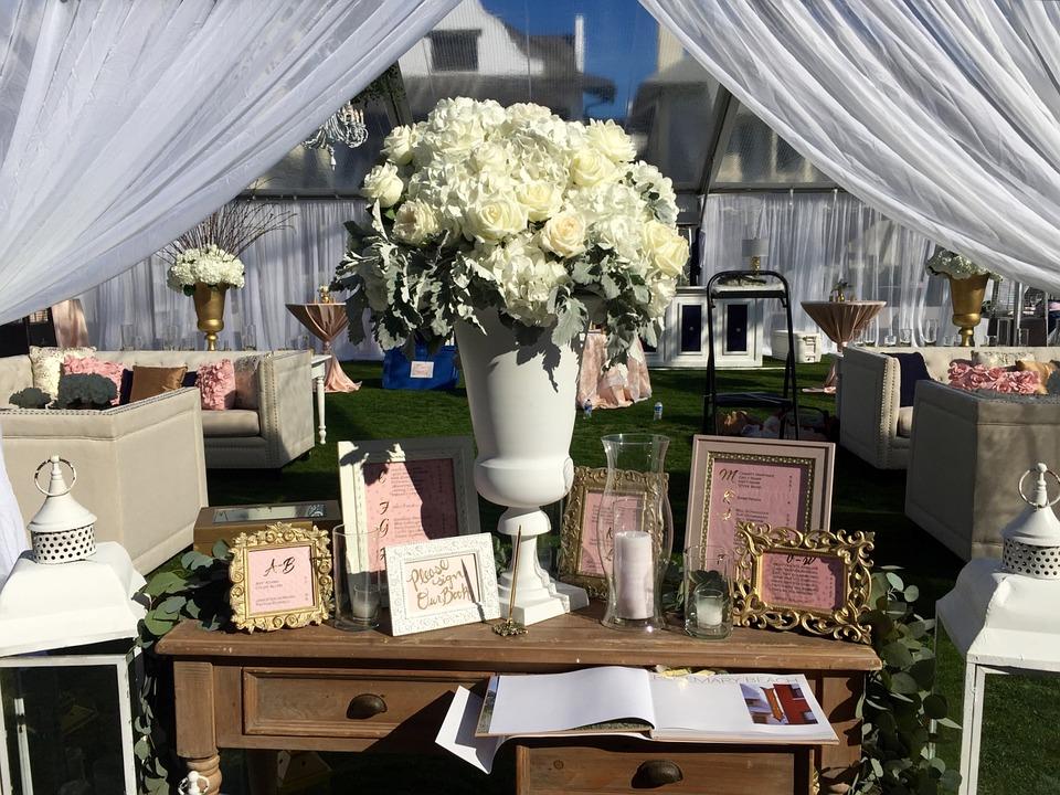 Hochzeitsdeko New Romance
