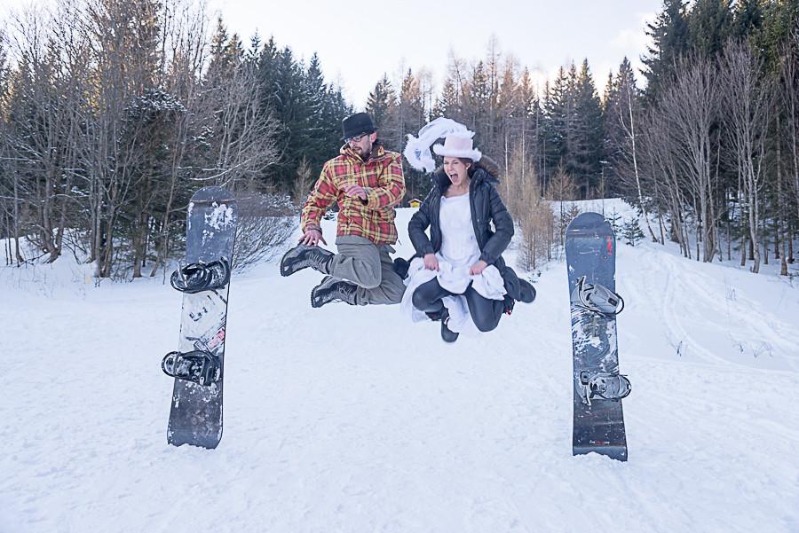 Tolle Fotos im Schnee