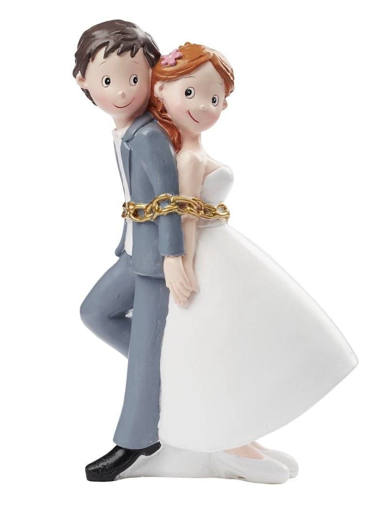 Brautpaar aneinandergekettet