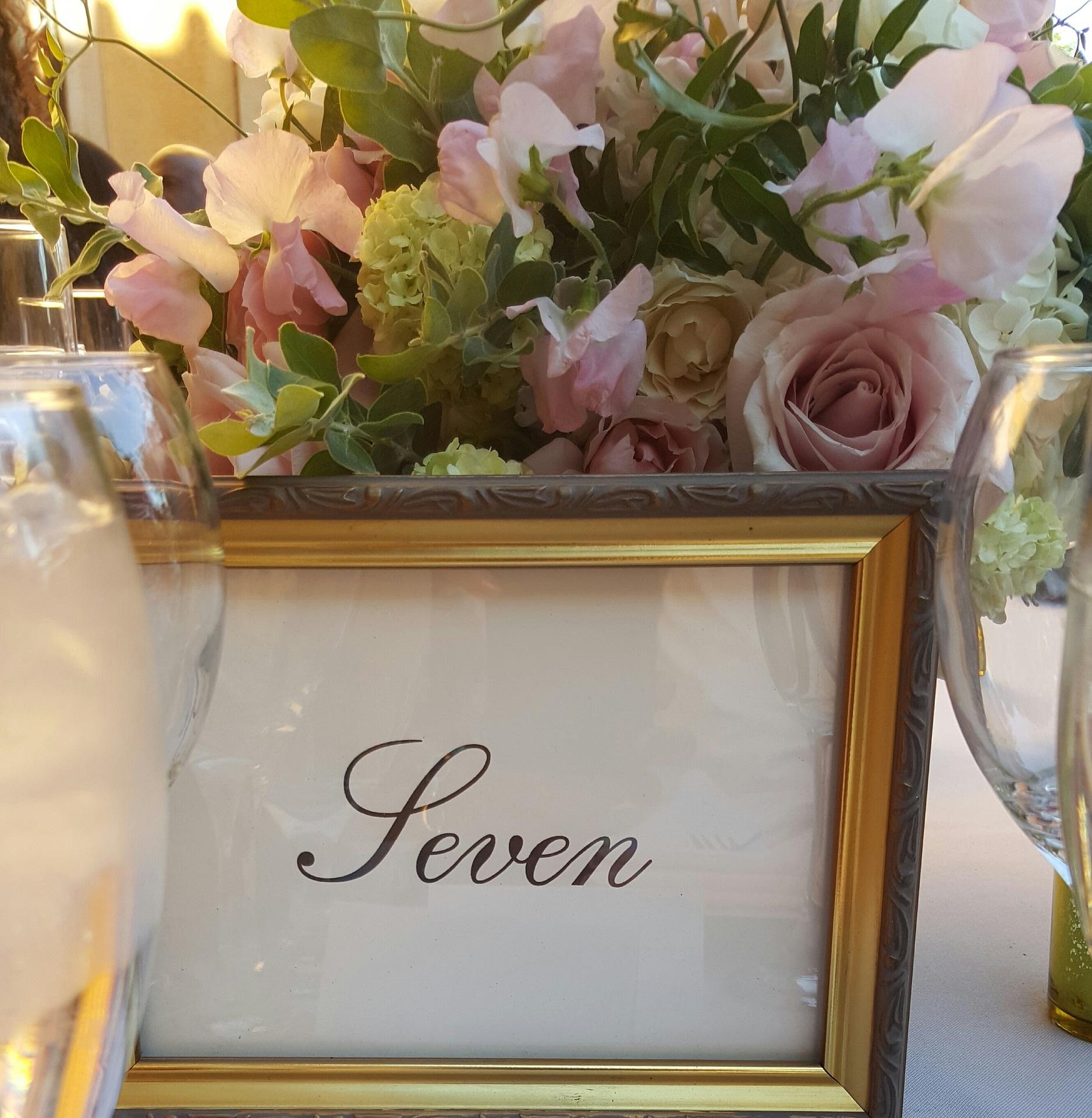 Typische Tischnummerngestaltung - Hochzeitstrends 2019