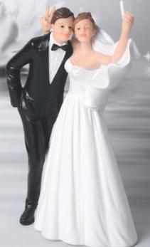 Brautpaar mach ein Selfie
