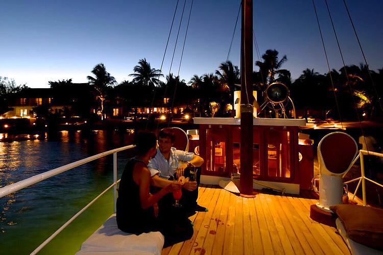 Romantik auf der Yacht