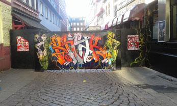 Sichtblende - Herbertstraße, Hamburg St. Pauli, in neuem Chic