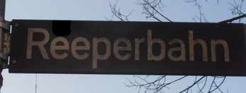 Straßenschild - Reeperbahn - Hamburg St. Pauli