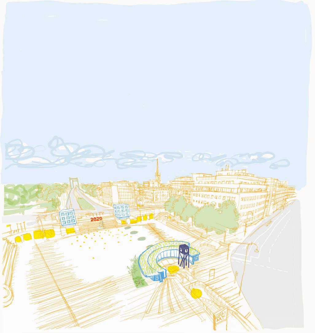 Wiener Platz in Köln Mülheim, Ilustration unter Berücksichtigung der Entwürfe von stefan schmitz bda architekten und stadtplaner