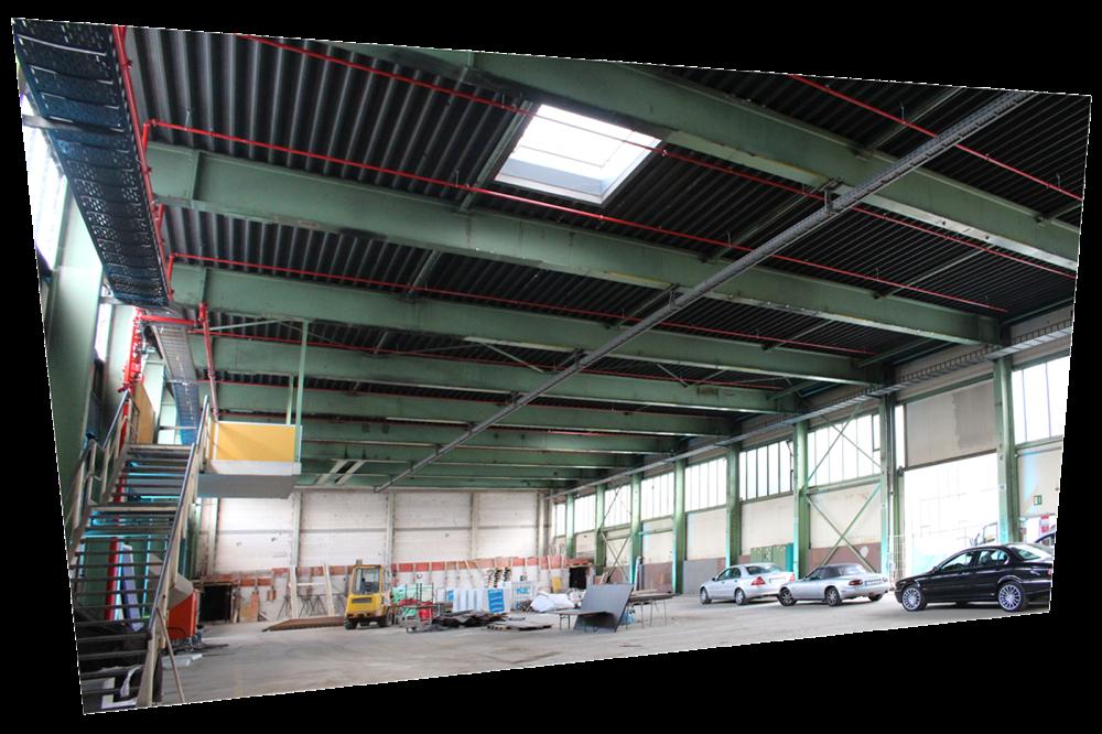 """In dieser ehemaligen Industriehalle entsteht das  """"Carlswerk Victoria"""" für bis zu 1600 Gäste. Die BEOS AG ist Vermieter. Eröffnung ist im November 2018."""