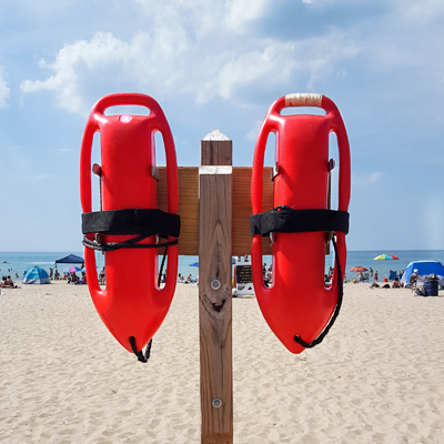 Rettungsschwimmer in Cala Vedella