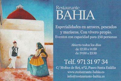 Restaurant Bahia in Santa Eulalia