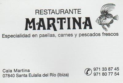Restaurante Martina in Cala Martina