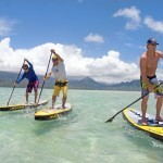 Stand Up Paddler auf iSUP Naish ONE