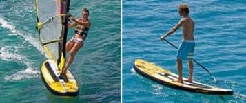 Naish Crossover Air 11.0 aufblasbares Board für Windsurfen und Stand Up Paddeln