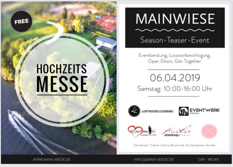 Hochzeitsmesse Mainwiese