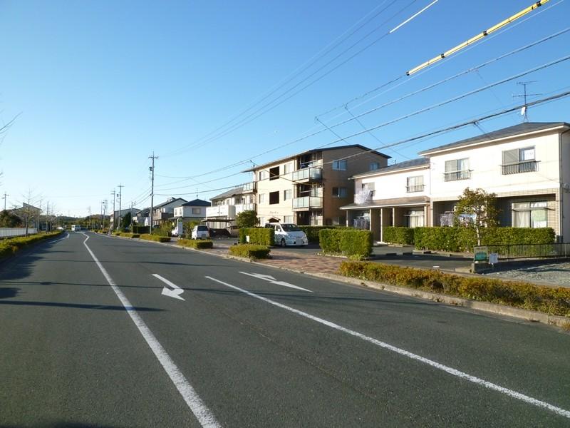区画整理された街並み