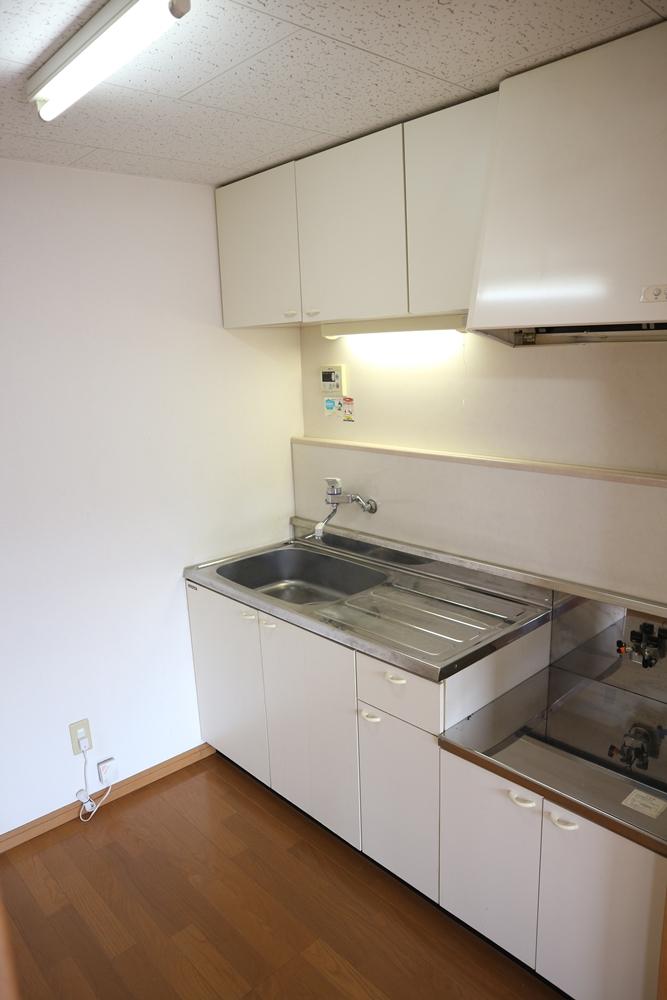 キッチン、吊り戸棚付き