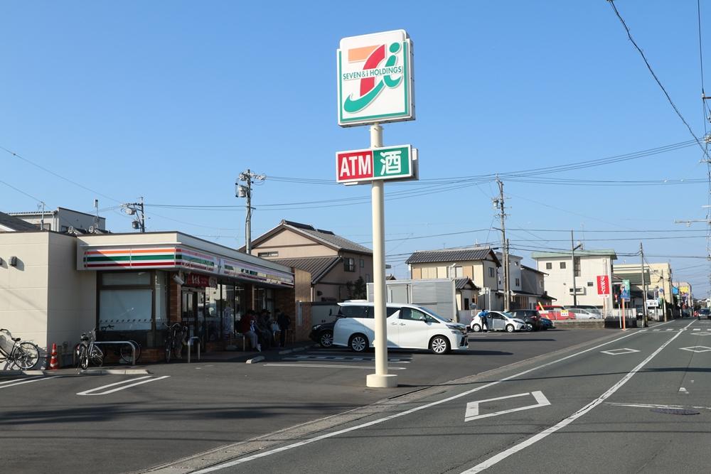 セブンイレブン浜松布橋2丁目店 徒歩4分