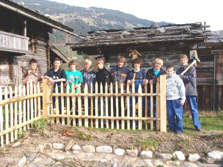 Regionalmuseum - Zaunerneuerung beim Kräutergartl