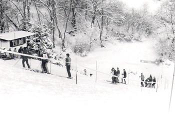 Skihütte: Skiabfahrten in den 1970/80er Jahren.