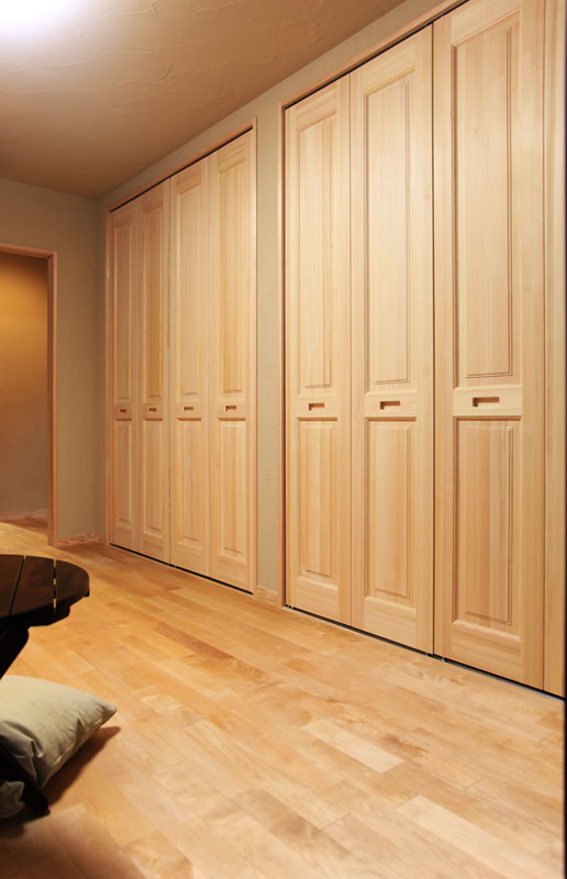 1階主寝室の大容量収納