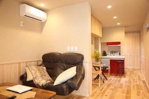 狭小住宅ならでは!アイデア収納リビング|台東区