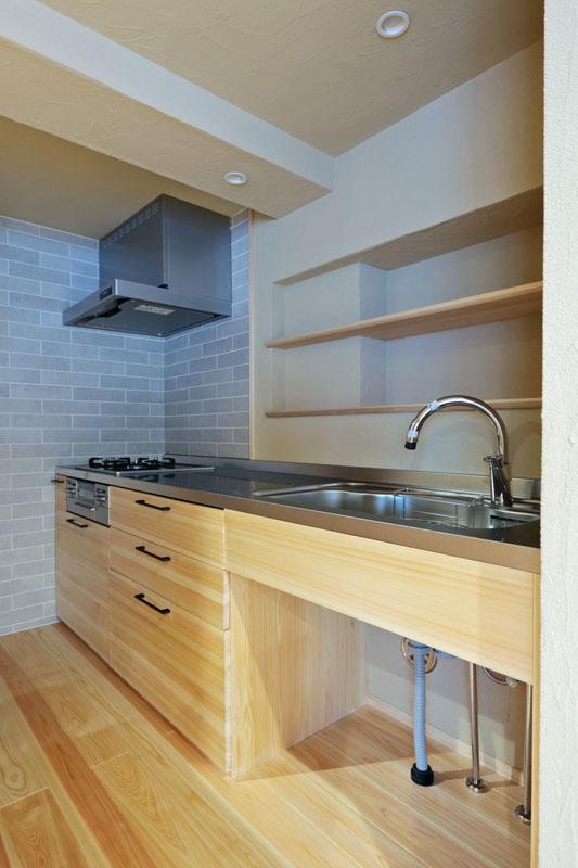 サイズや仕様をお施主様のご希望に合わせて決めるため、使いやすいキッチンになっています