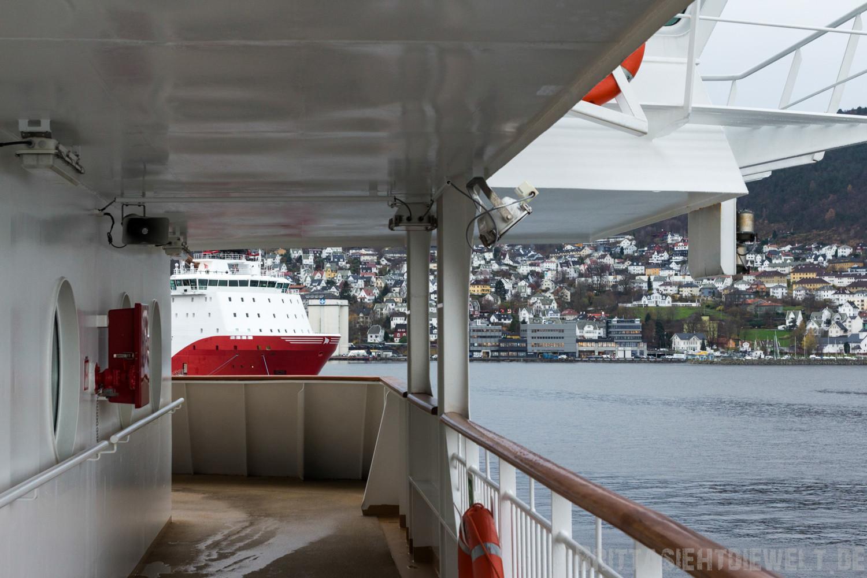 Deck 6 - einmal rund ums Schiff, das Umlaufdeck