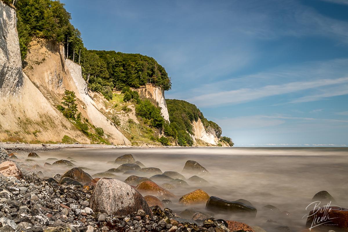 kieler strand, königstuhl, rügen, kreideküste, nationalpark jasmund, fotostandorte, fotospots, wanderung, wandern, langzeitbelichtung