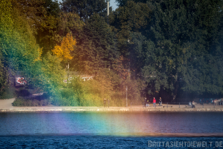 Regenbogen auf der Binnenalster