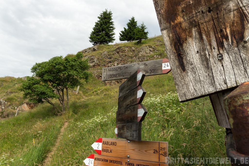 Wegweiser zur Nassereithütte
