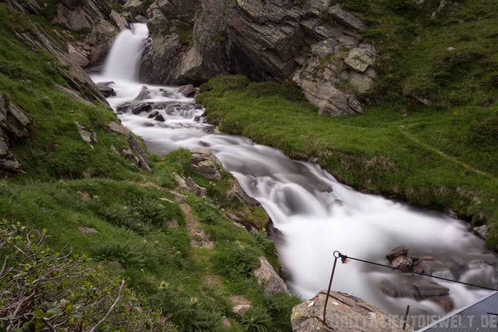 Kleiner Wasserfall des Zielbachs
