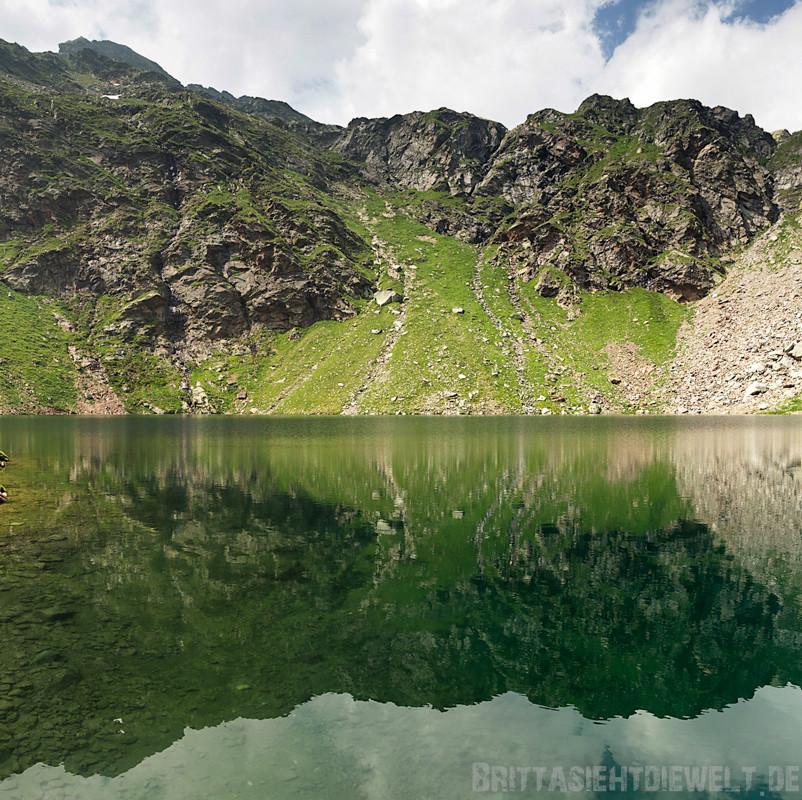Spiegelung im Grünsee