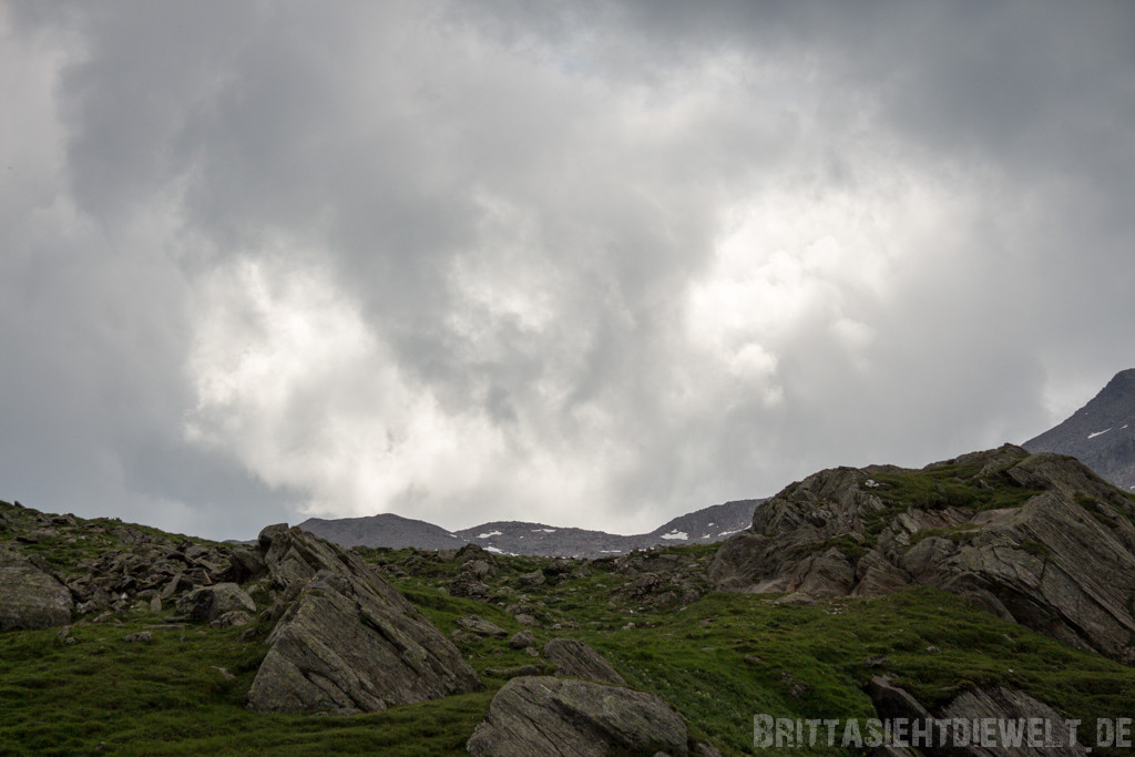 Wolken tauchen auf
