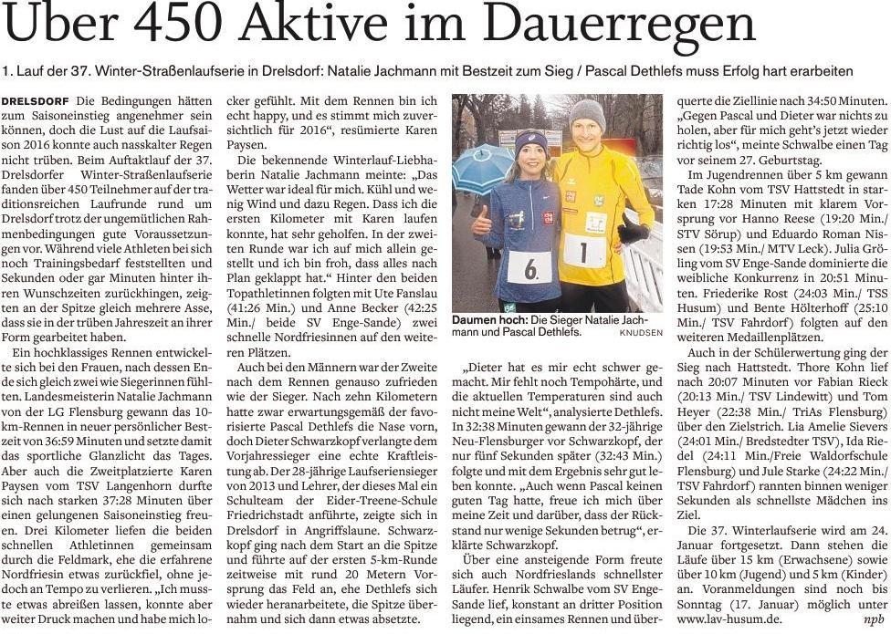 1. Lauf 10km  Drelsdorf