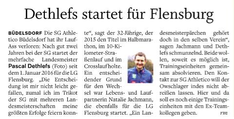 Wechsel zur LG Flensburg