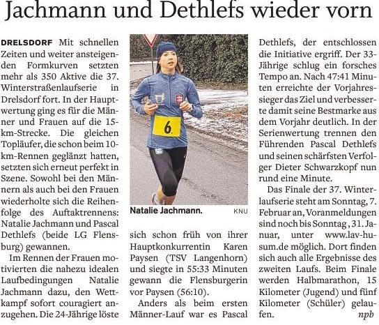 Drelsdorflauf aus der Flensburger Tageblatt