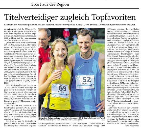 Vorschau Holstenkösten Lauf Neumünster 2015