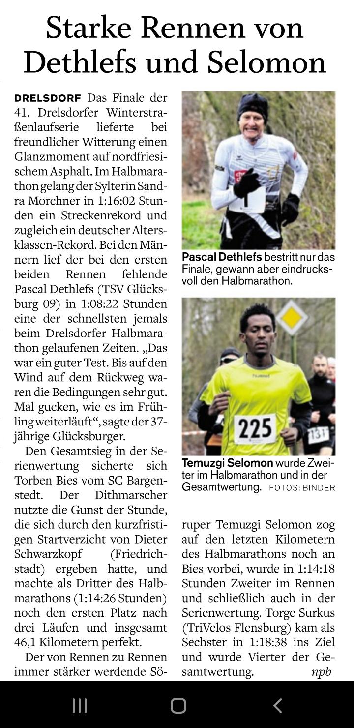 Schnelles Rennen beim HM Drelsdorf