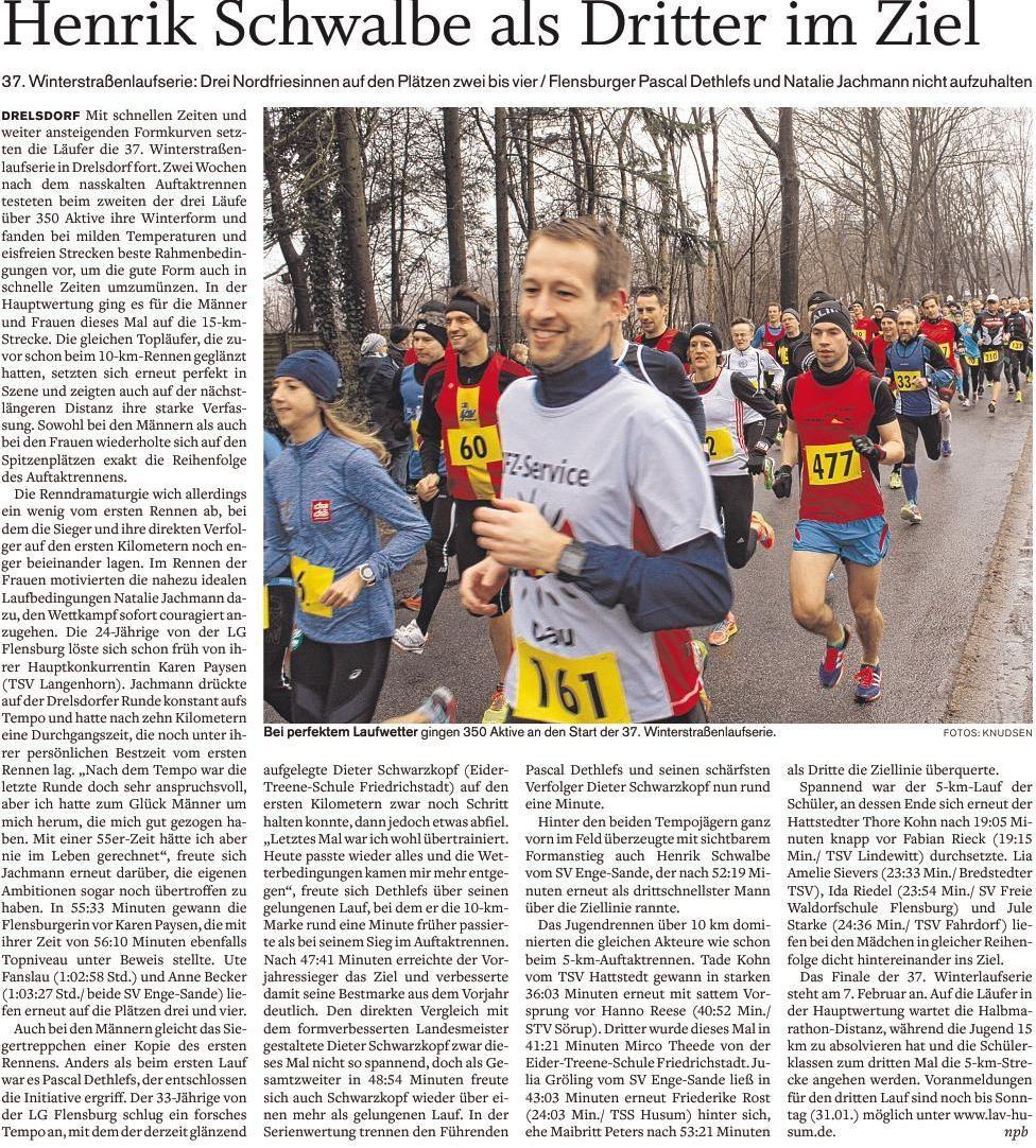 2. Drelsdorflauf Streckenrekord 15 km