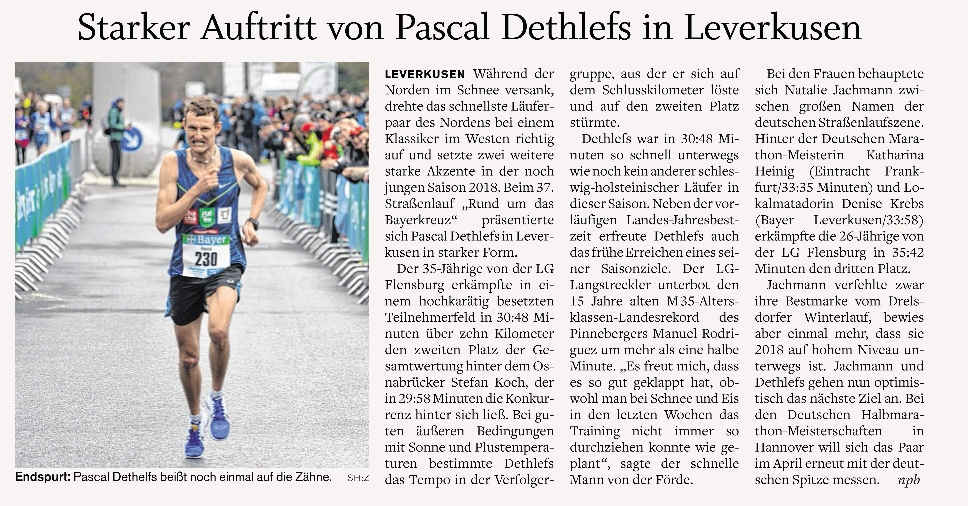 Leverkusen 2. Platz in 30:48 (Landesrekord M35)