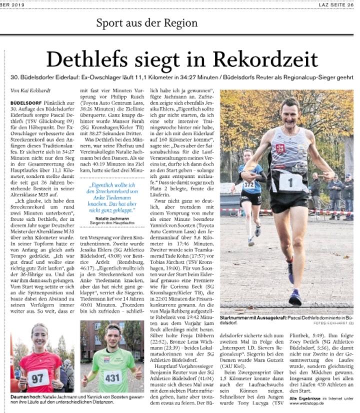 Sieg Büdelsdorfer Eiderlauf 11,1 km