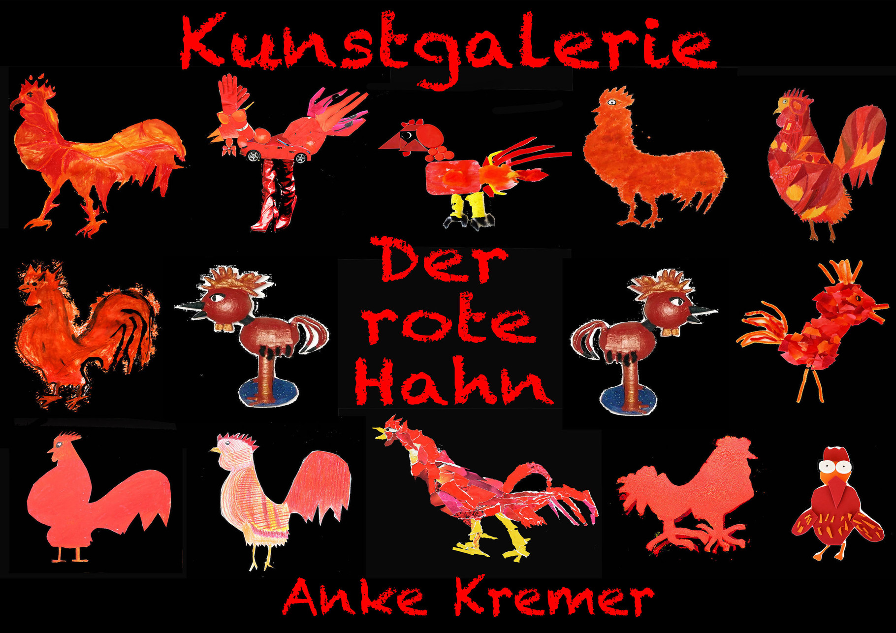 Roter Hahn Kunst kunstgalerie der rote hahn anke kremer 136s webseite