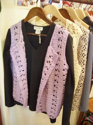 『レース糸 紫ベスト』 3,500円