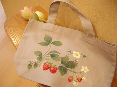 『手描きバックイチゴ(中沢様)』 1,500円