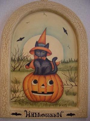『ハロウィン(かぼちゃ&ねこ)』 5,000円