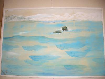 『氷の世界で生きるイキモノタチ(額込)』 50,000円