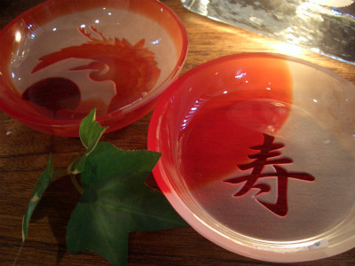 『小皿セット 寿&鶴』 7,200円