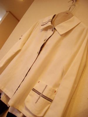 『白キャンバス ボーダー ジャケット』 16,000円