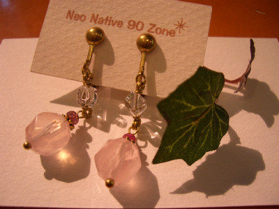 『天然石イヤリング』 6,000円