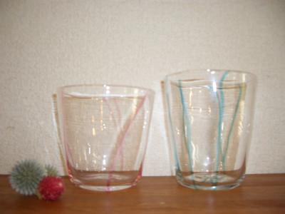 『流線グラス』 各2,625円