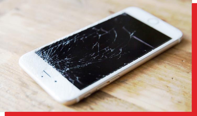 iPhoneガラス修理、修理怪我や更なる故障の原因に!