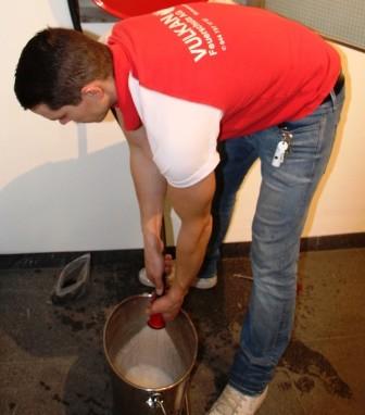 Druckprüfung, spülen und entleeren des Druchschlauchs